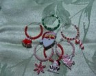 Holiday Wine Glass Rings