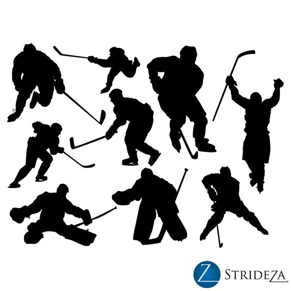 Hockey Wall Decal Set of 9 by Strideza