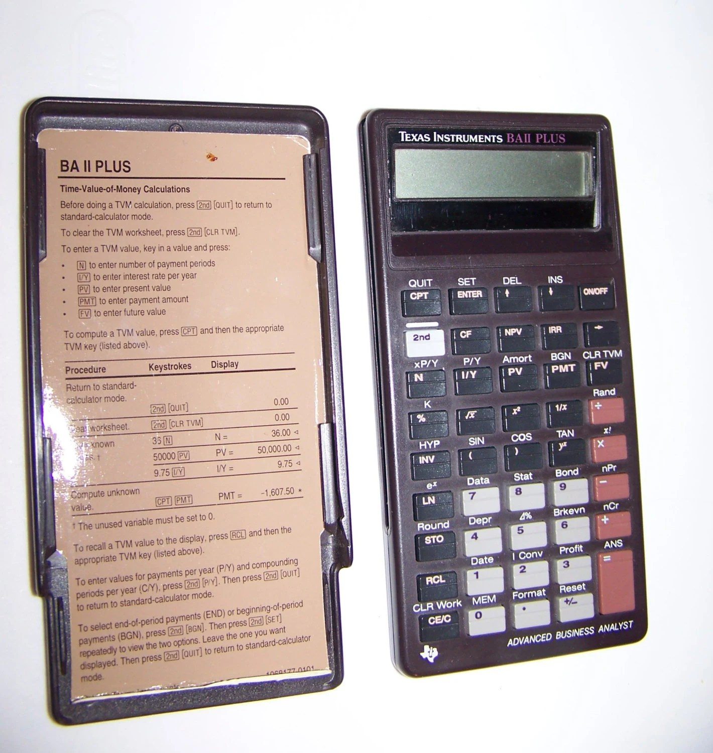 Texas Instruments Scientific Calculator Ba Ii By Antiquesatlanta
