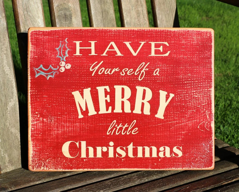 Merry Christmas Sign Wooden Christmas Sign Holiday Sign