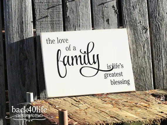 Download The Love of a Family Life's Greatest Blessing Carved