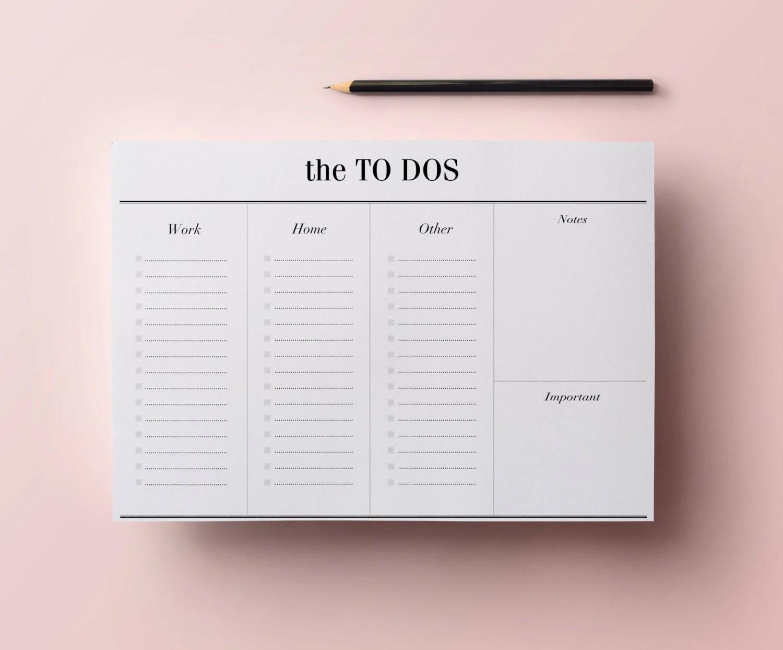 To Do List Planner Printable A4 Work Planner Minimalist