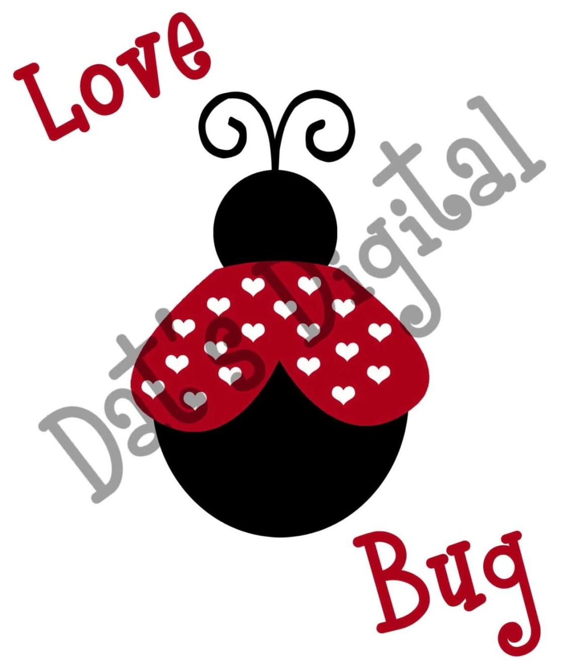 Download Love Bug Cutting or Printing Digital File SVG