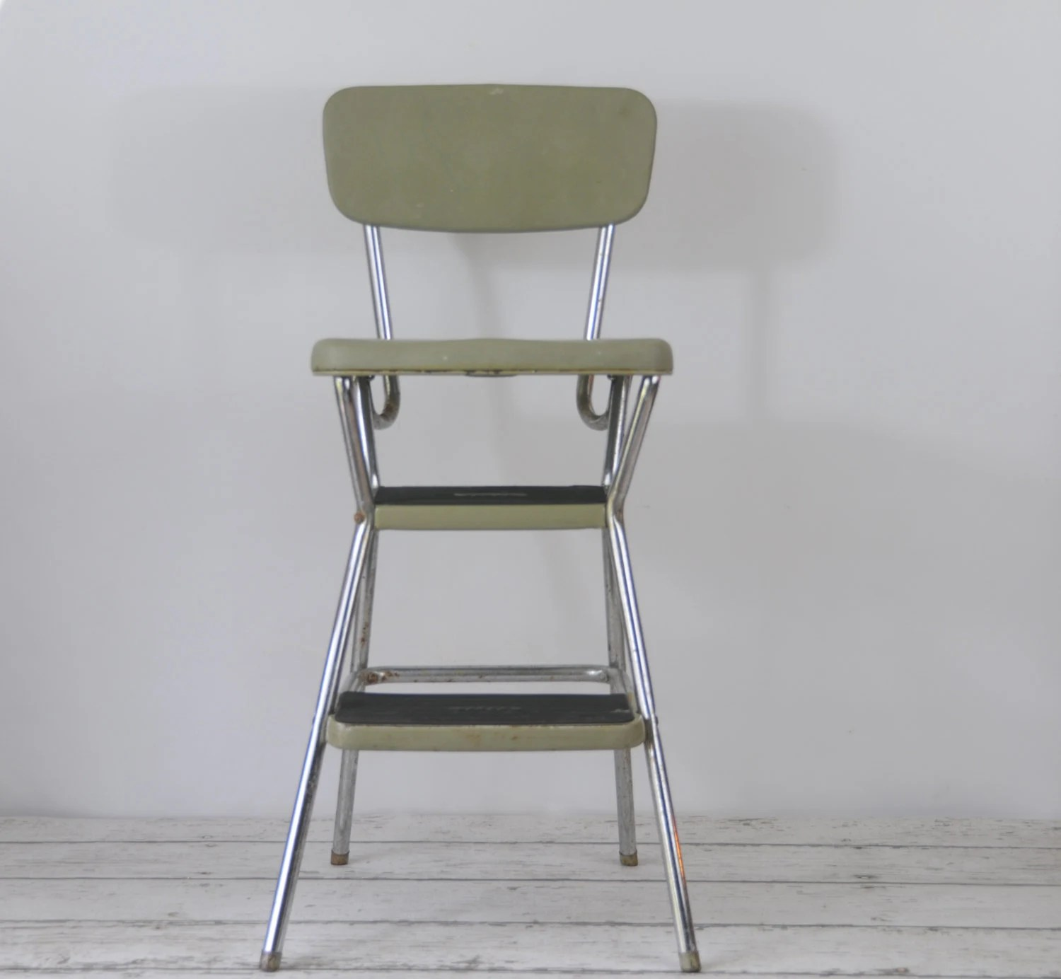 Vintage Cosco Retro Step Stool Flip Up Seat Booster 1950s