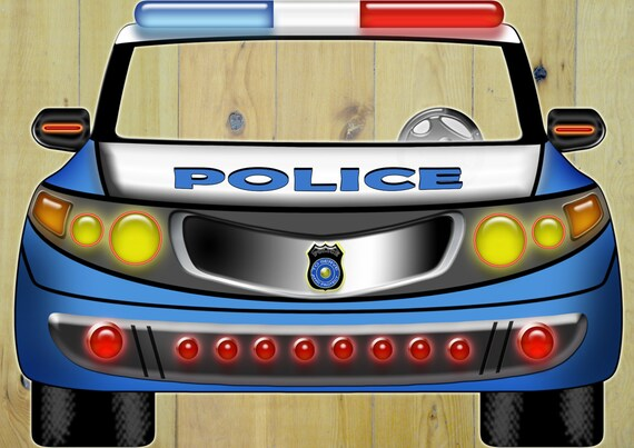Large Police Car Photo Prop Car Props Police By LMPhotoProps