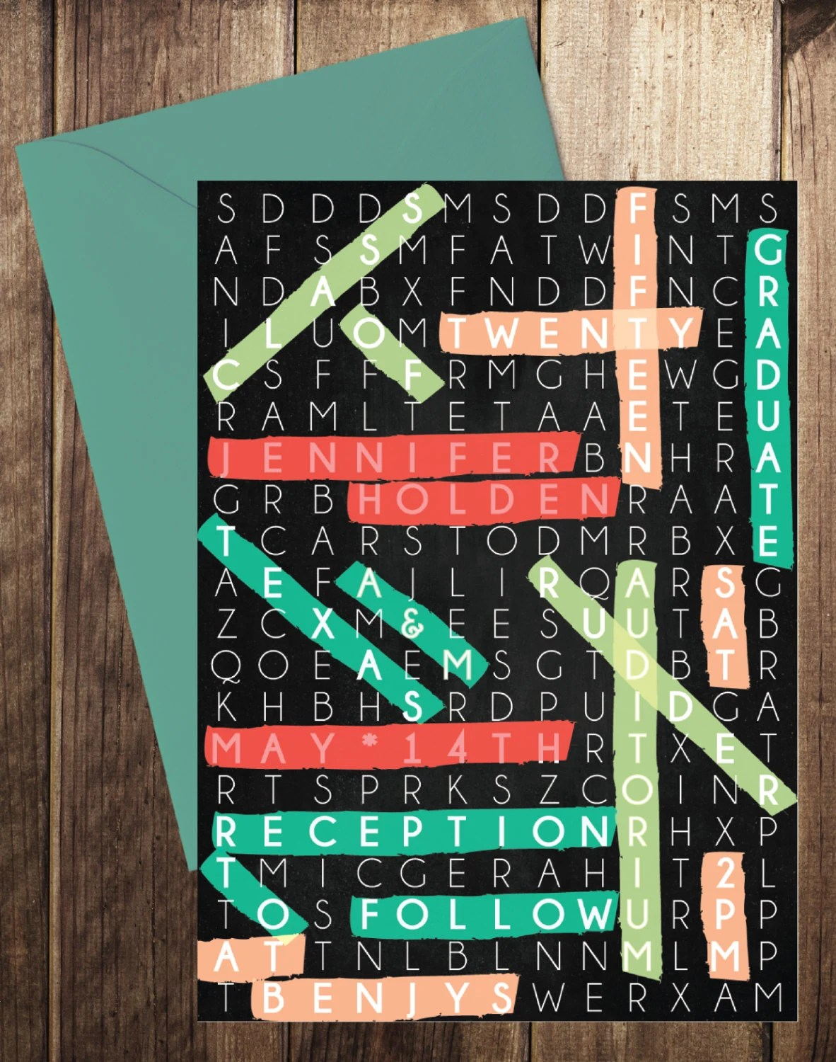 Printable Graduation Word Search Class Of By