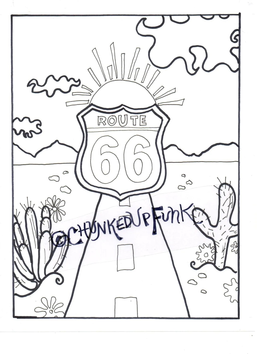 Route 66 Printable Worksheets