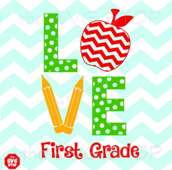 Download Teacher Love with Apple & Pencils SVG and studio files for