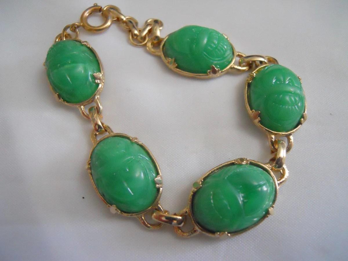 Sale Vintage Scarab Bracelet