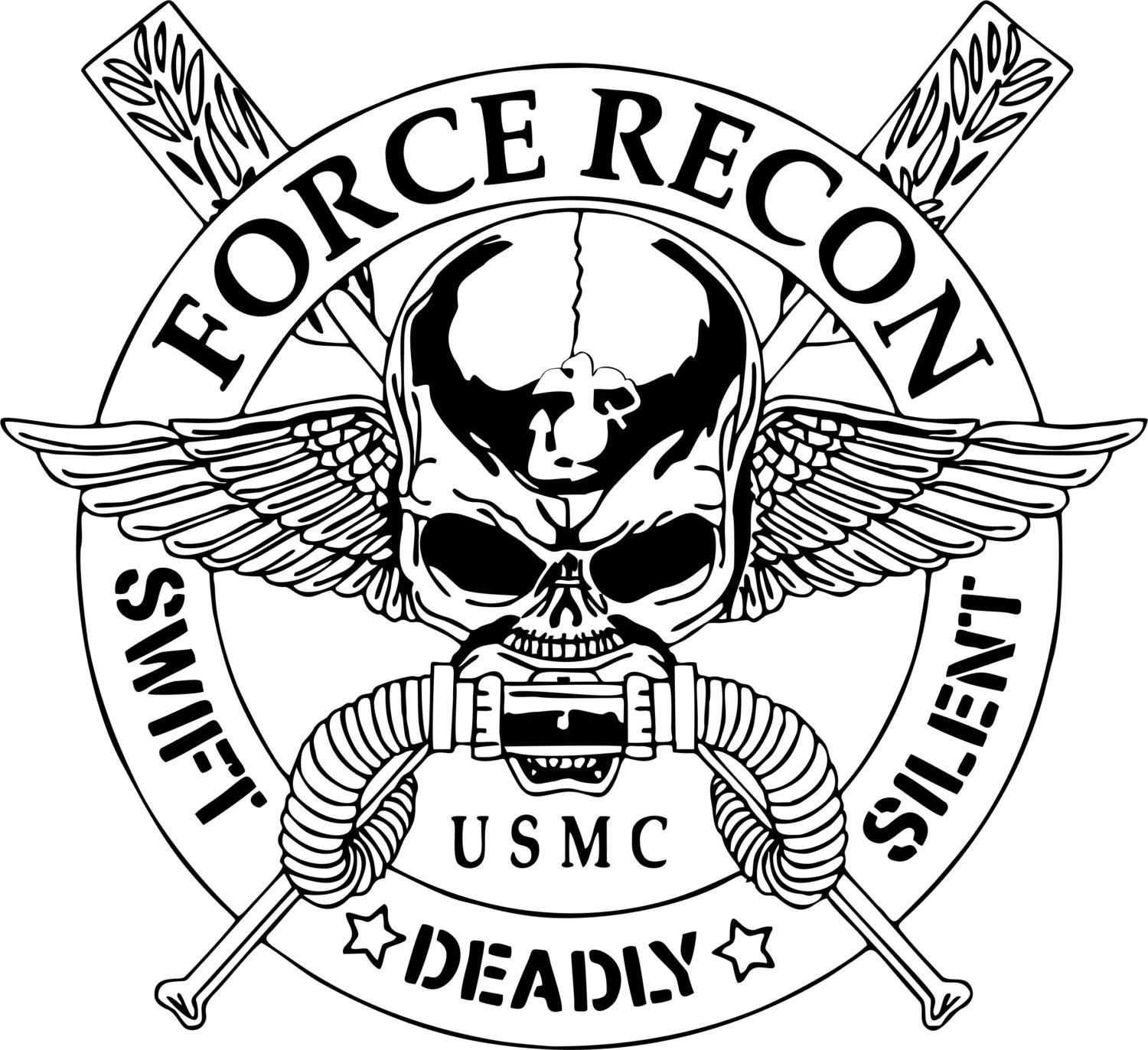Force Recon United States Marine Corps Car Truck Window Laptop