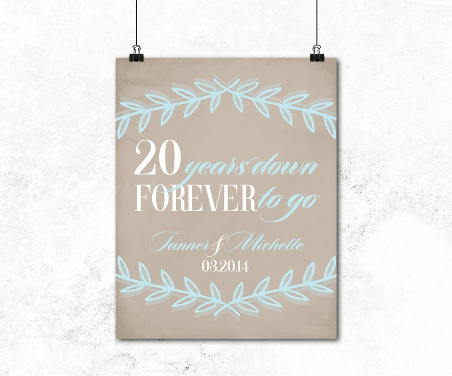 20th Anniversary Gift For Husband Or For Wife By