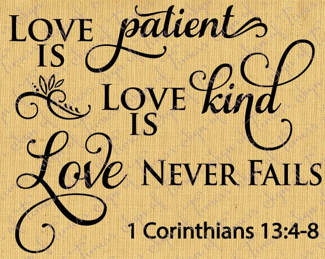 Download Love is Patient Love is Kind Corinthians 13:4-8 Valentine