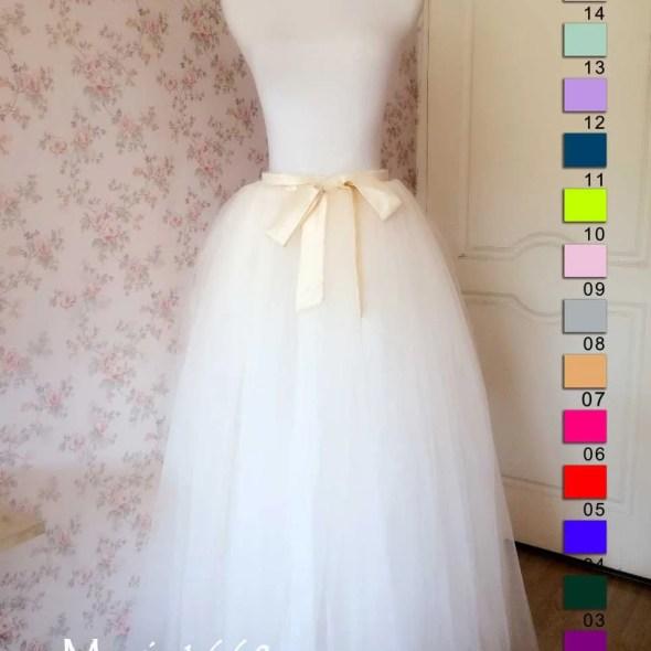 e4324a8bf7 2016 Wedding Bridesmaid Skirt. Cream Ivory Tulle Skirt. Petticoat Full  Floor Length Tulle Skirts Bridesmaid Dress Wedding Plus Size(T280)