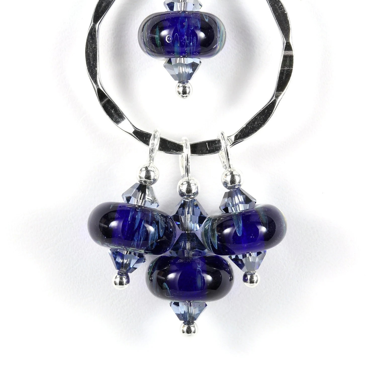 Lampwork glass chandelier necklace