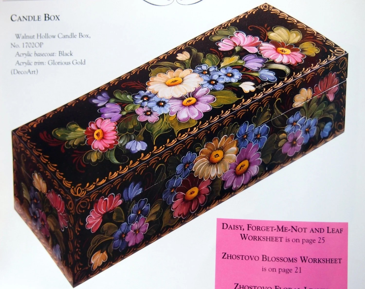 Zhostovo Florals With The Russian Artists Book I By Priscilla