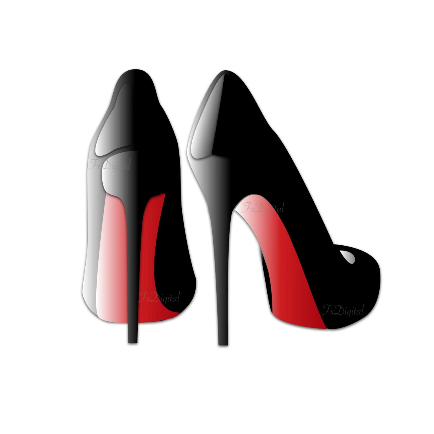 Two Pair Of Stiletto Shoes Clip Art