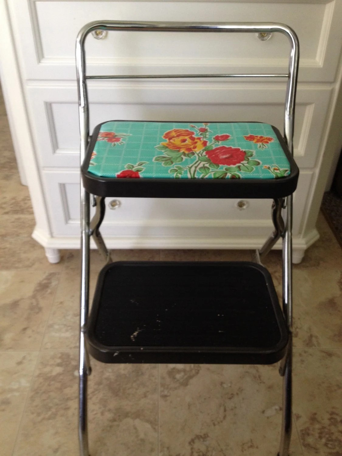 Retro Upcycled Step Stool High Chair Haute Juice