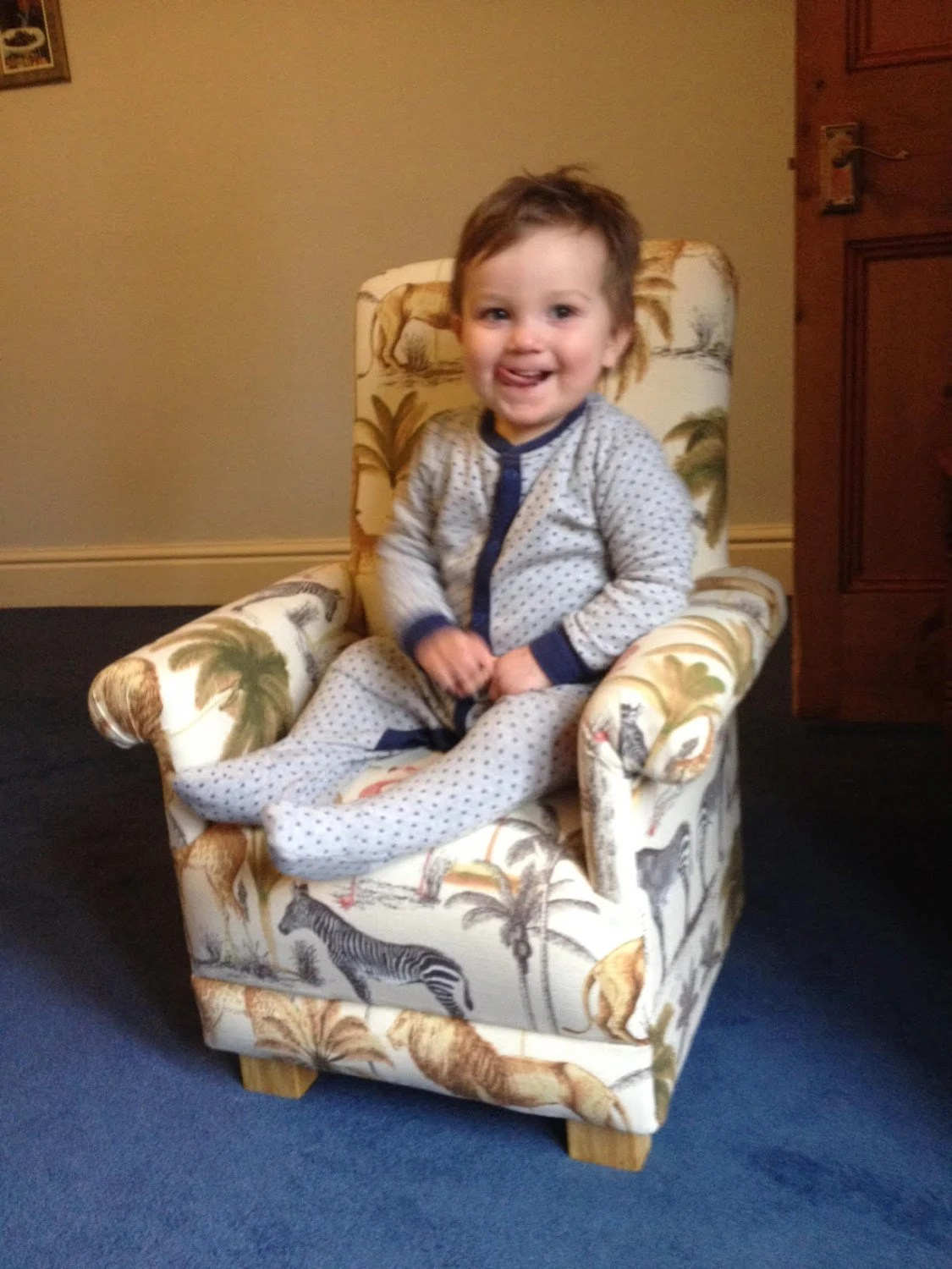 Laura Ashley Dinosaur Fabric Childs Chair By ChairsForCherub