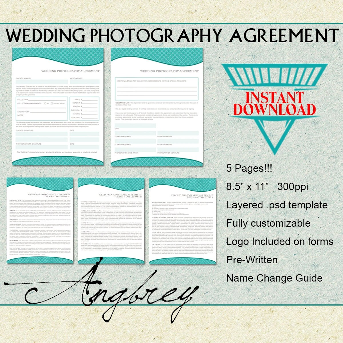 Wedding Contract Agreement Form Information Form For
