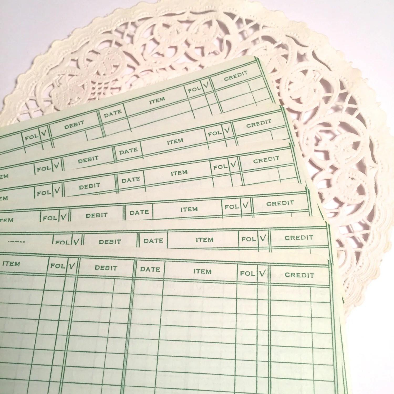 25 Ledger Sheets For Rachel