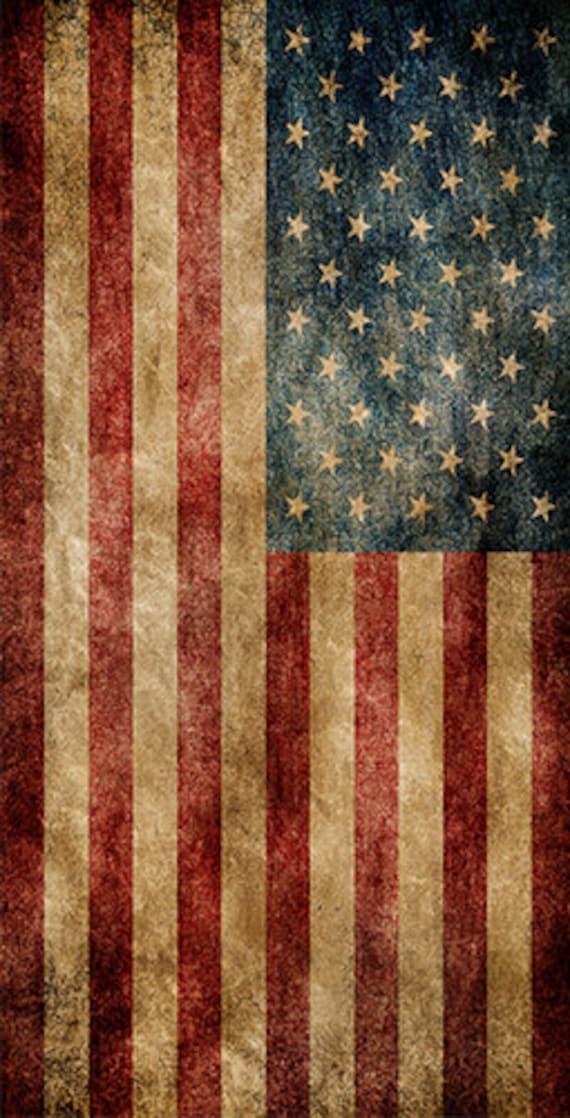 Worn American Flag Themed 2x4 Custom By Cornholeboardsdotus