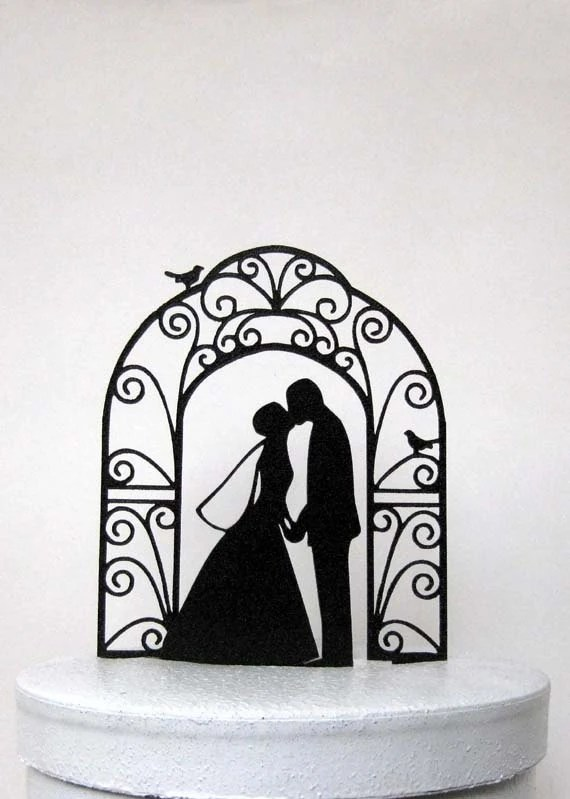 Wedding Cake Topper Bride And Groom Wedding Silhouette