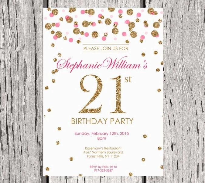 Custom Made 21st Invitations