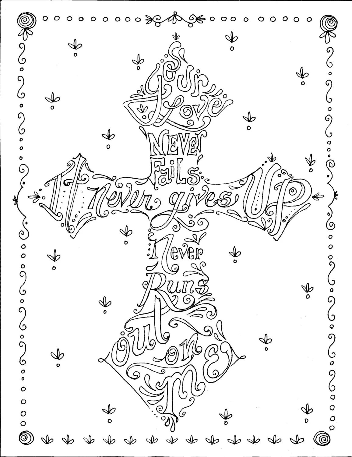 coloring book of crosses christian art to color by chubbymermaid