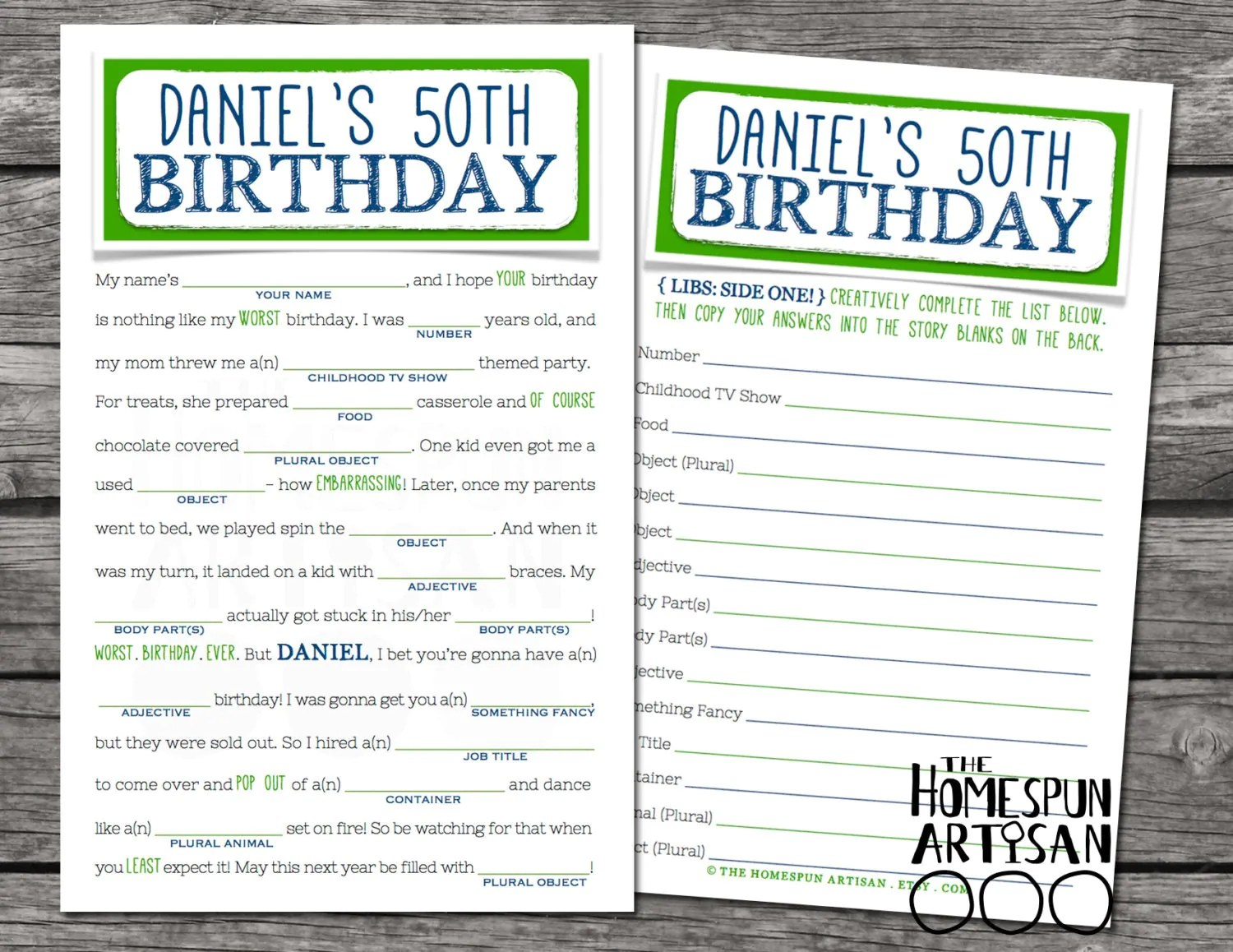 Adult Birthday Mad Libs Printable Pictures To Pin On