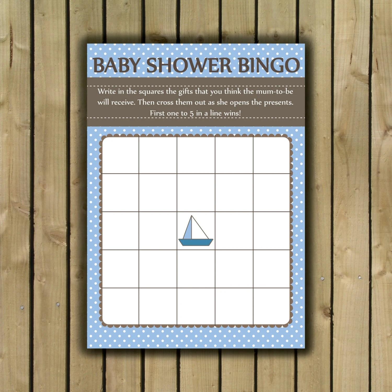 Baby Bingo Printable Sheet Baby Shower Bingo By Olliesdrawingroom