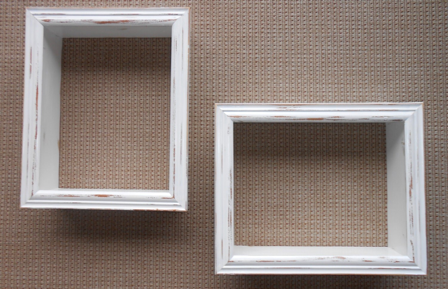 Large Wall Cubes White Shadow Box Shelf Cottage Chic Wall