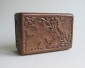 Vintage carved wooden box...