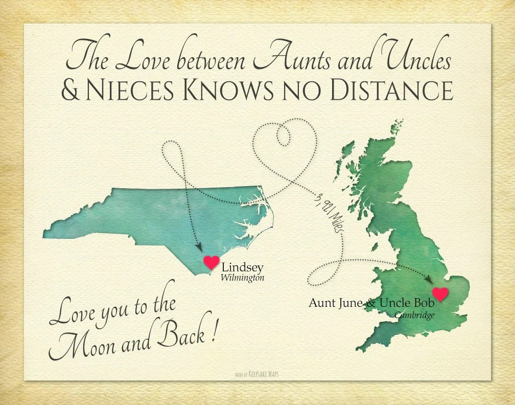 Long Distance Present Aunts And Uncles And Niece Quote