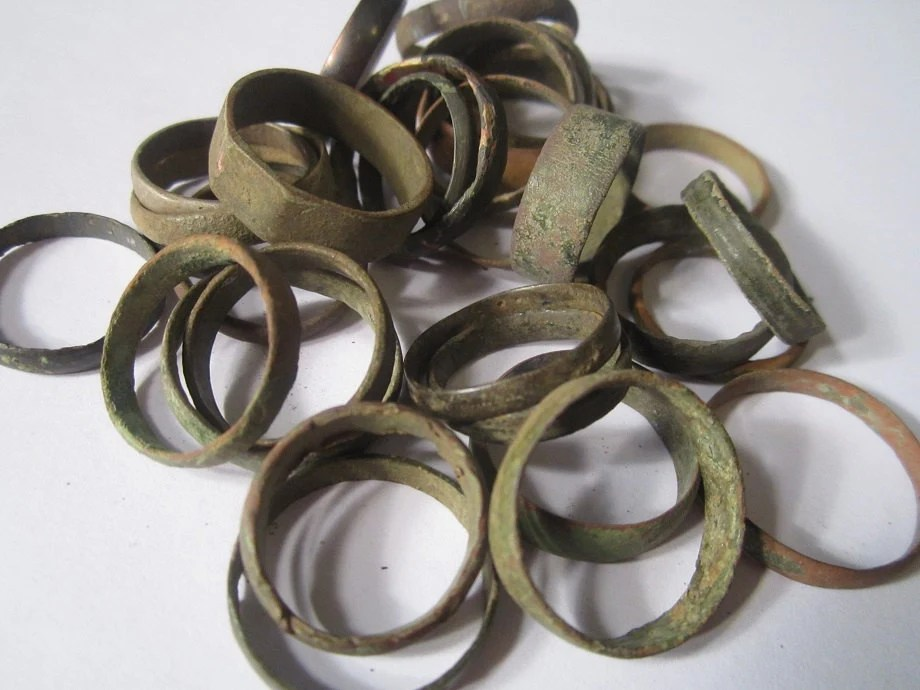 Baltic Viking Medieval Bronze Bands One Ring Authentic