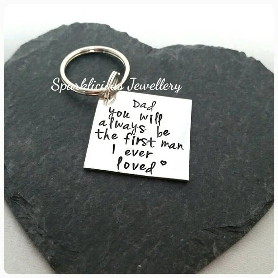 Download Hand Stamped keyring 'Dad you will always by ...
