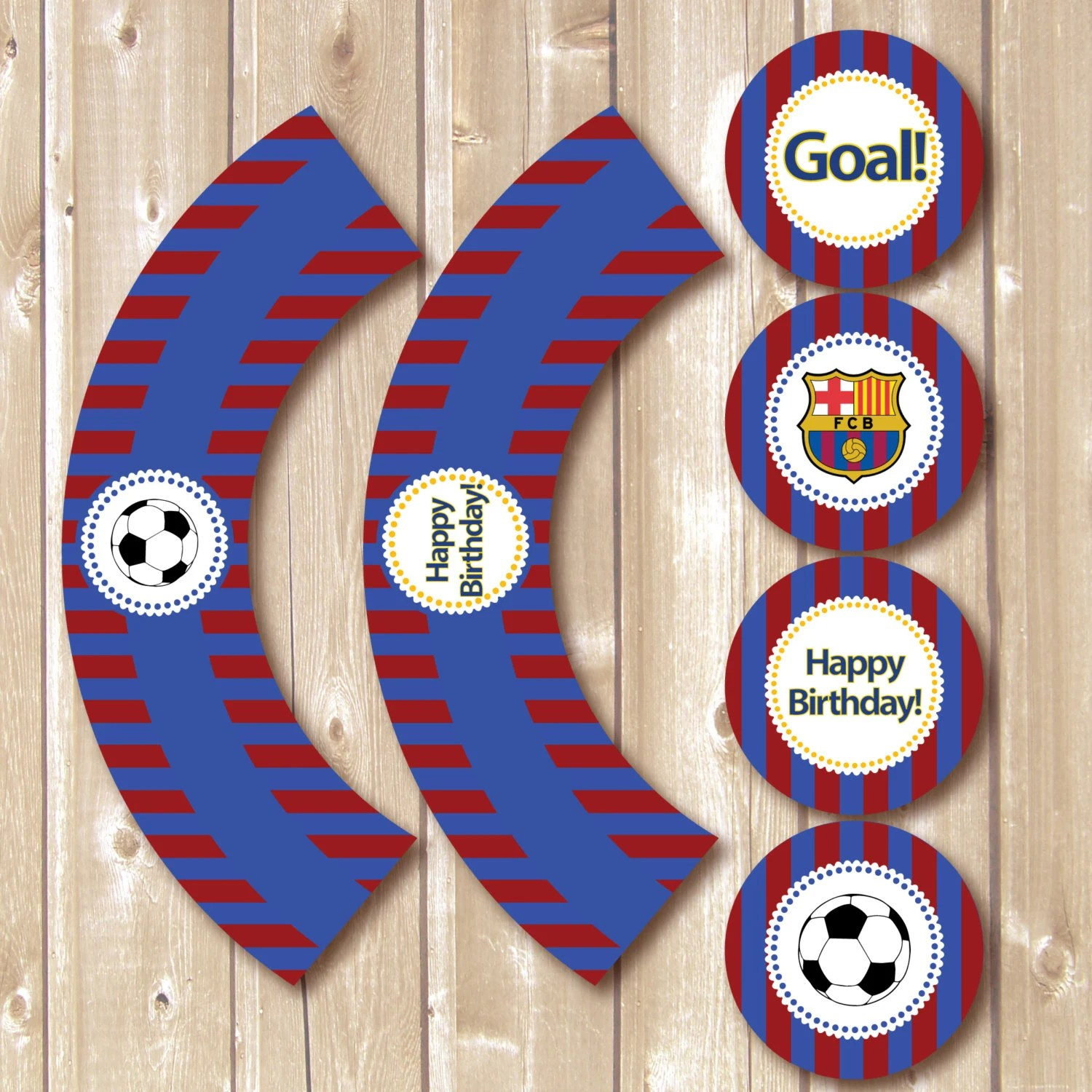 Barcelona Printables Barcelona Toppers And Wrappers Soccer