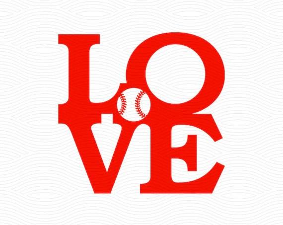 Download Love Baseball Monogram Frame SVG EPS DXF Studio3 Cut Files