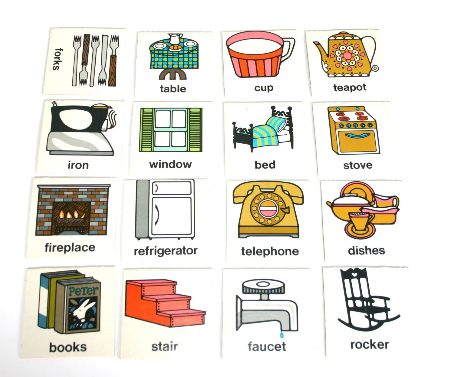 Vintage Small Flash Cards Creative Playthings
