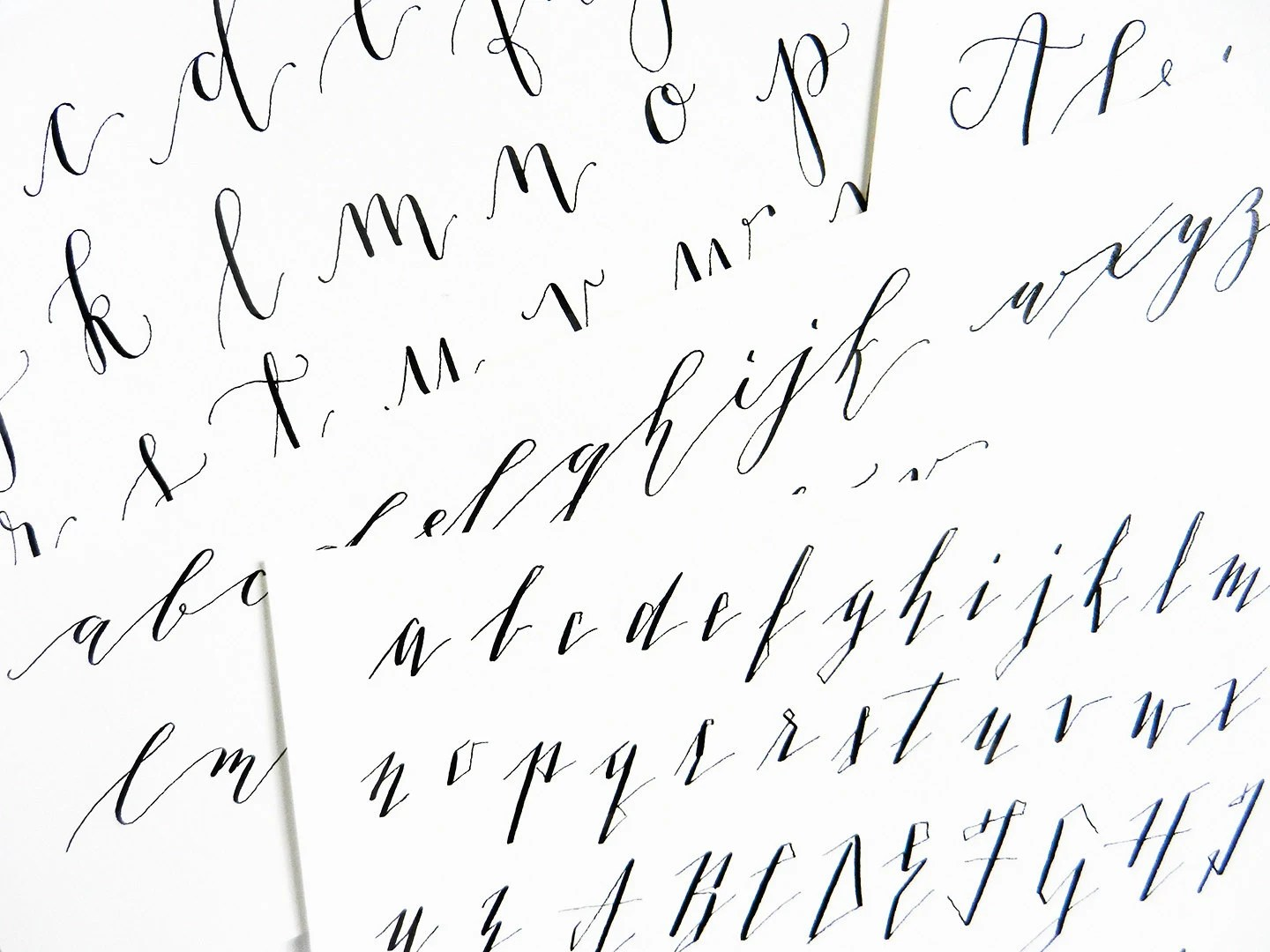 Add On To Kaitlin Style Calligraphy Worksheets Style