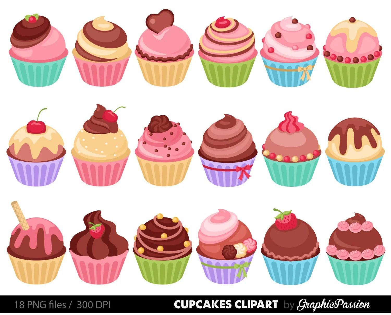 Cupcakes Clipart Digital Cupcake Clip Art Cupcake Digital