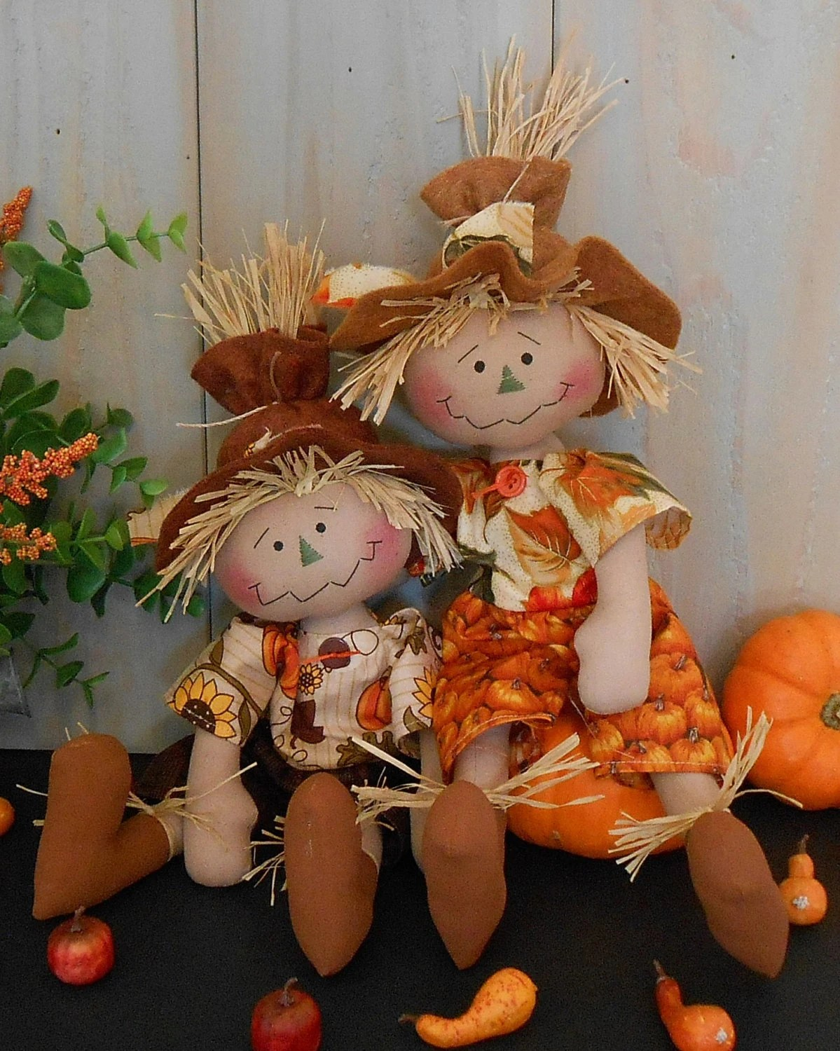 Harvest Scarecrow Raggedy Doll 83 E Pattern Fall