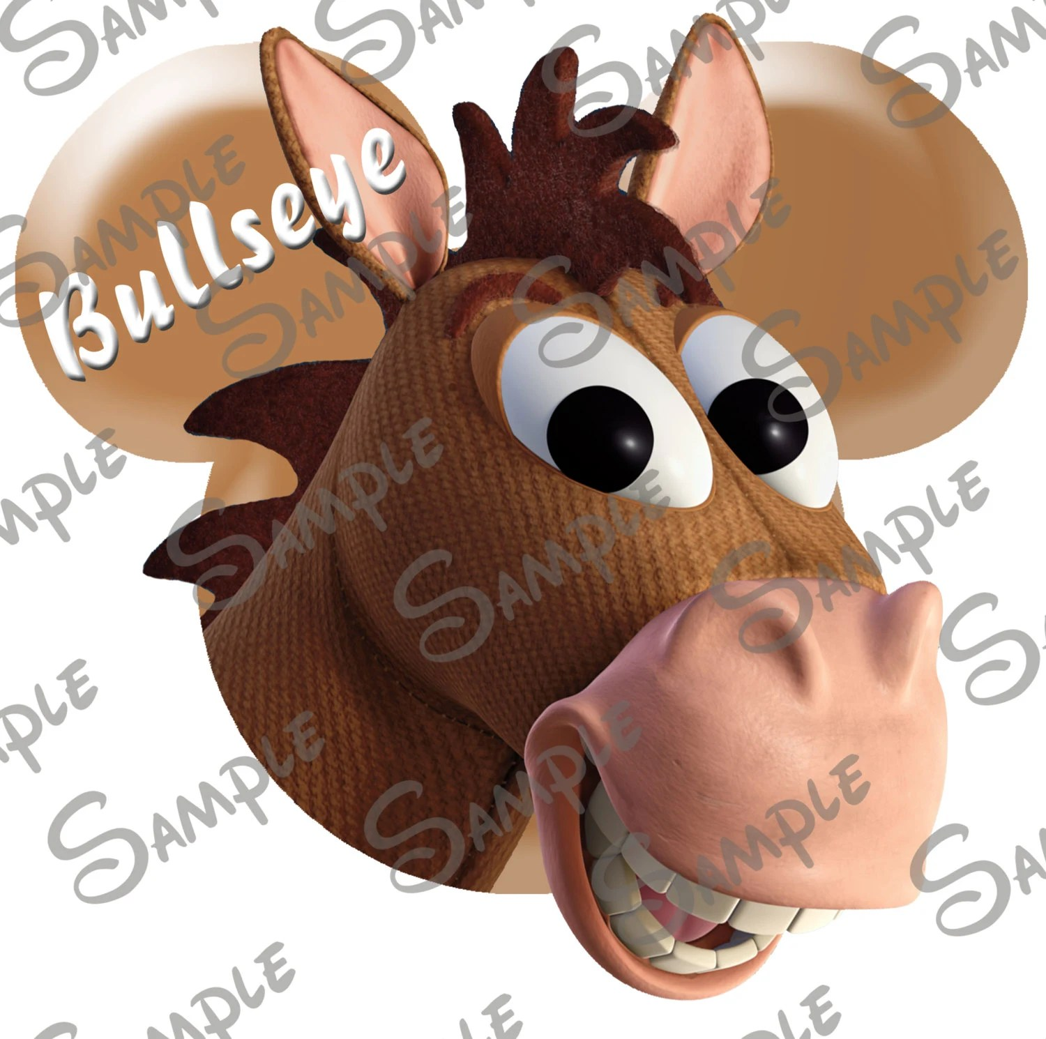 Digital Printable Do It Yourself Toy Story Bullseye Character Inspired Mickey Head File Can Be