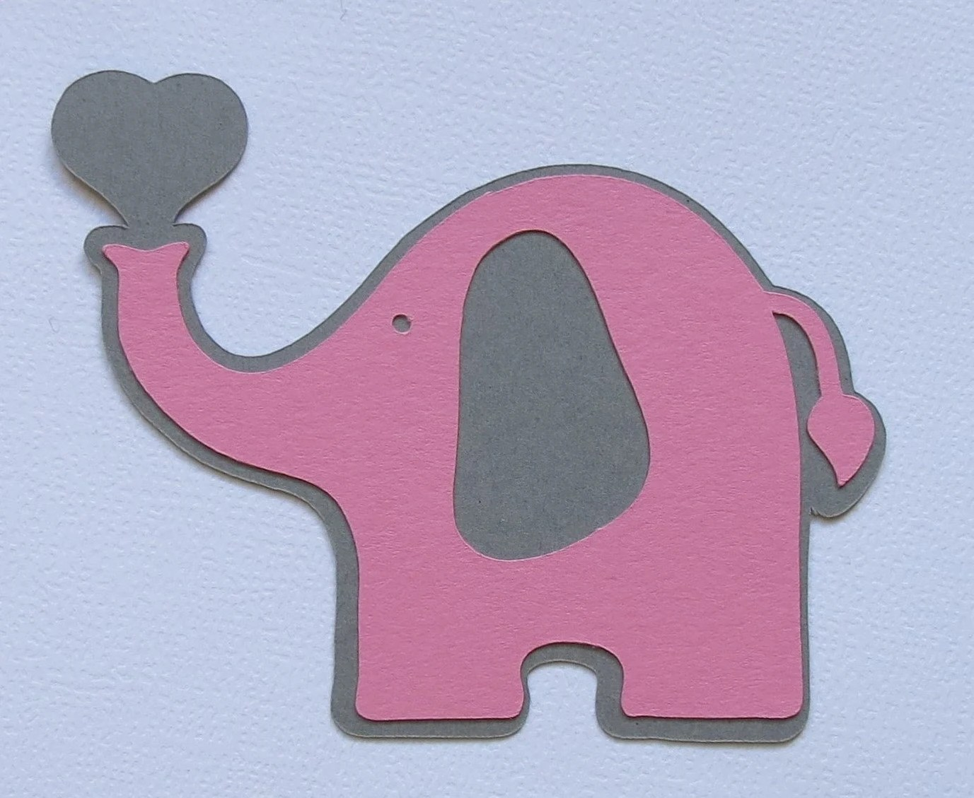20 3 X 2 4 Pink And Grey Elephant Cut Outs