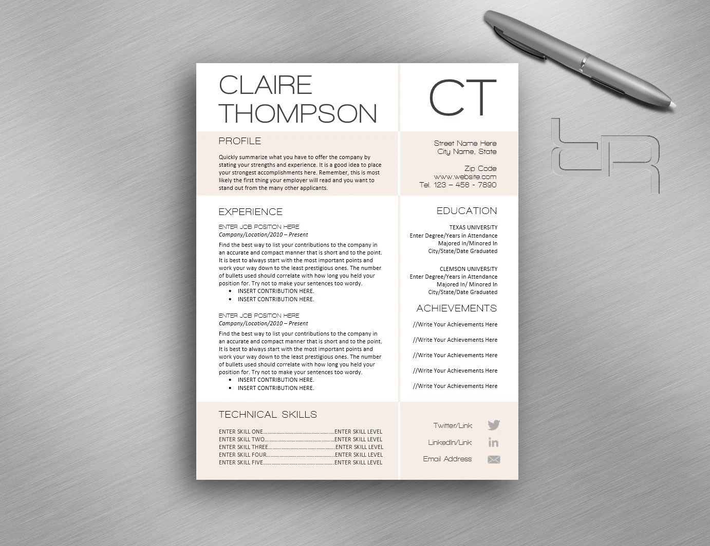 Meaning of cv resume title