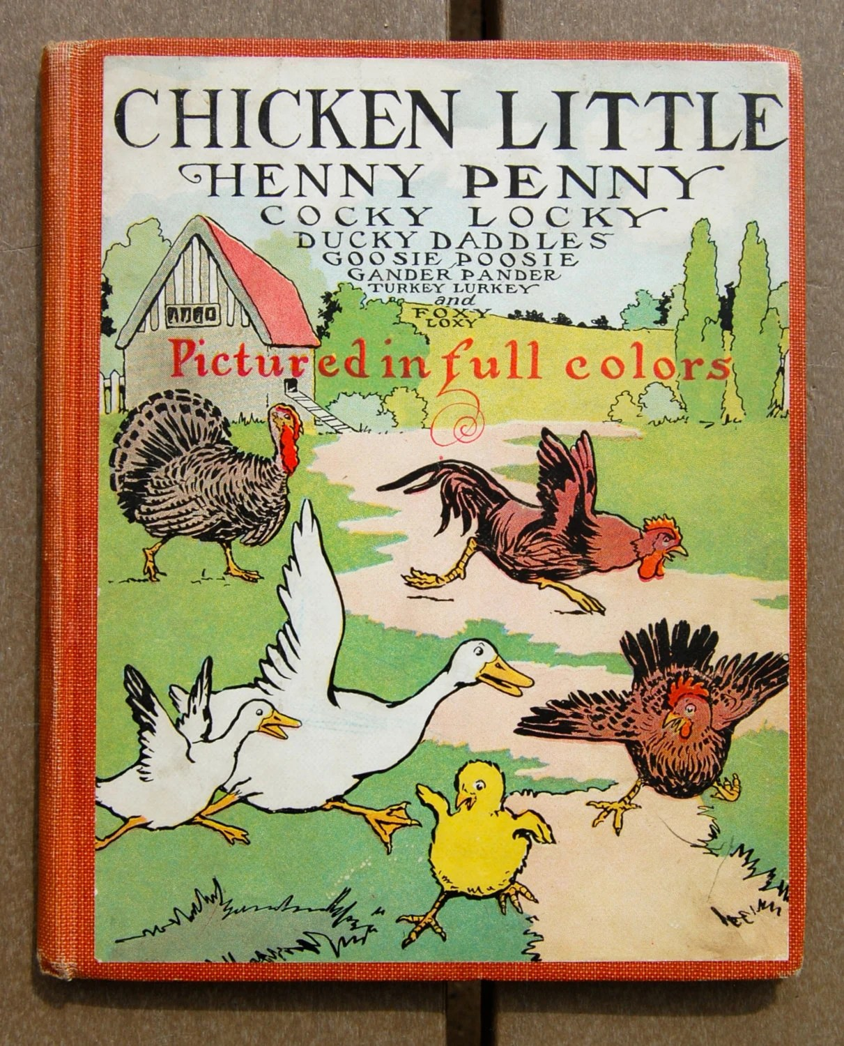 Antique Childrens Book Chicken Little Henny Penny By