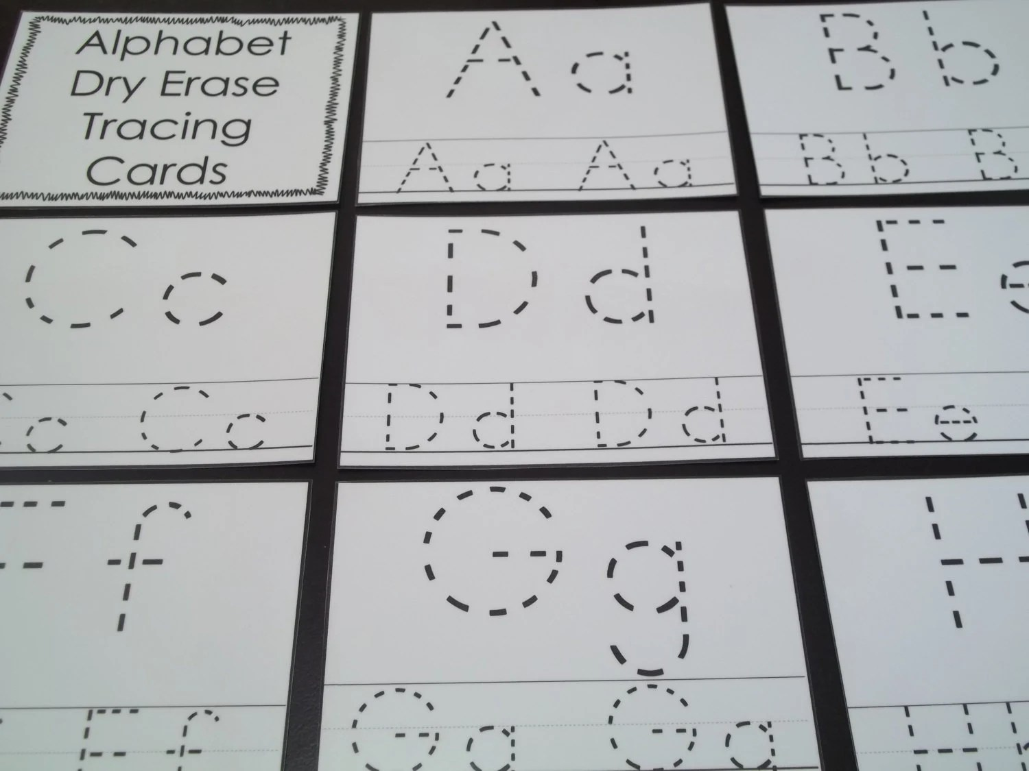 26 Alphabet Laminated Dry Erase Cards Preschool Letter