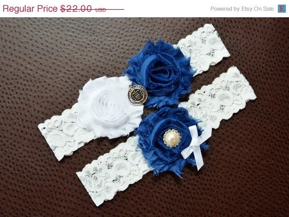 ON SALE Air Force Wedding Garter Set Air Force By