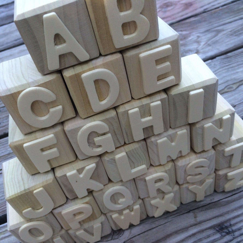Alphabet Blocks Abc Blocks Wooden Letters Diy Wooden