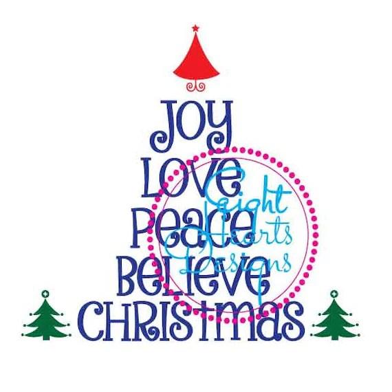 Download Christmas Design SVG Studio Joy Peace Love while Believing