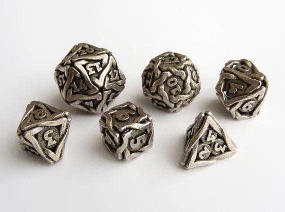 Dungeons Dragons Metal Dice